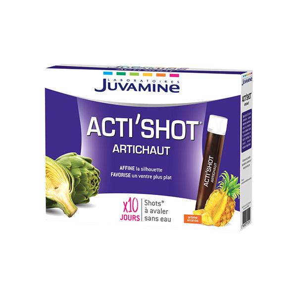Juvamine Minceur Acti Shot Artichaut Détox Arôme Ananas 10 ...